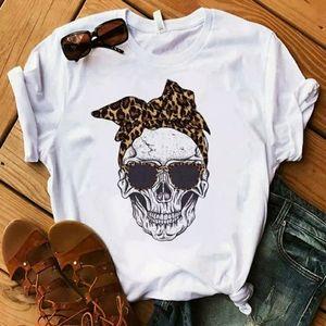 Adorable Leopard Print Skull Tshirt